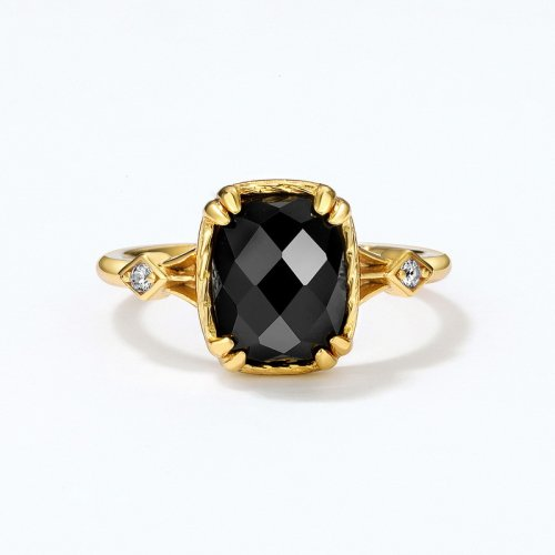 Onyx sterling silver ring