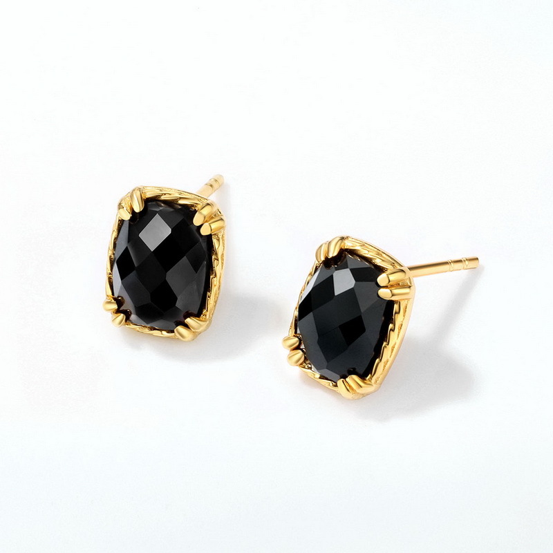 Onyx sterling silver stud earrings
