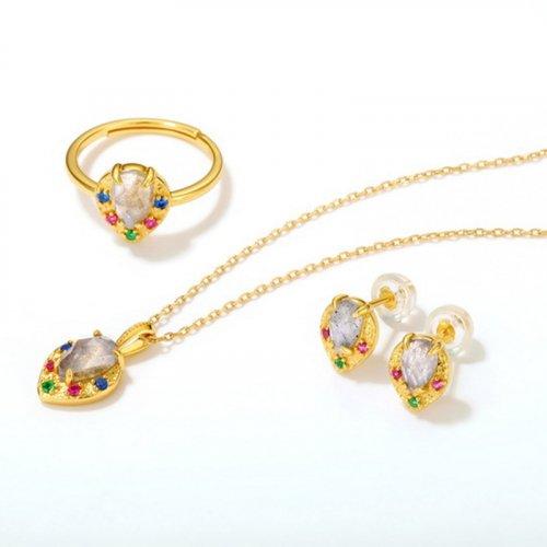 Labradorite sterling silver jewelry set