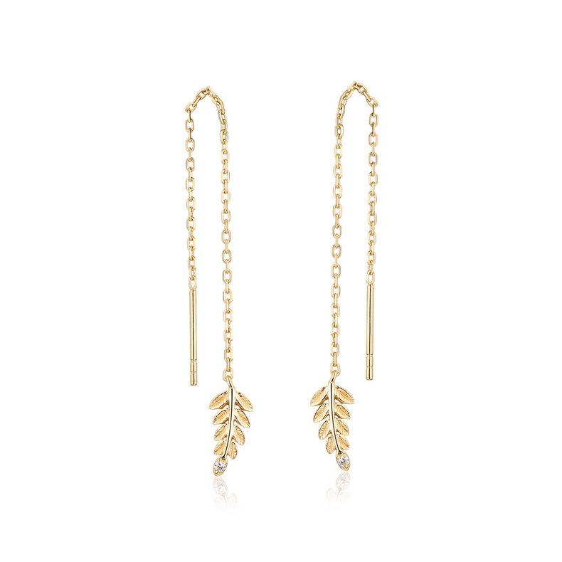 Olive branch sterling silver drop earrings