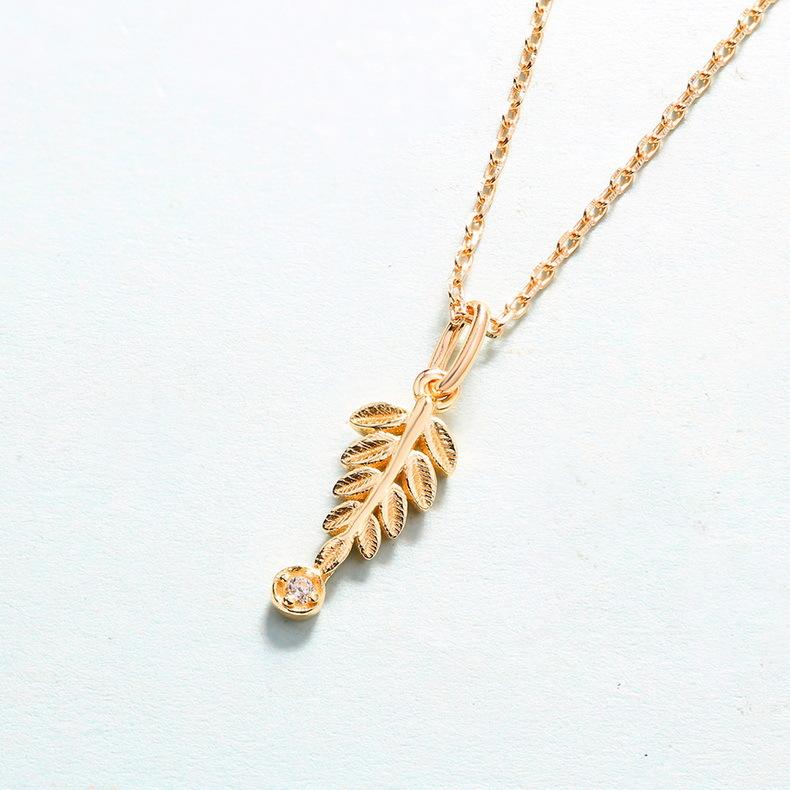 Olive branch sterling silver pendant