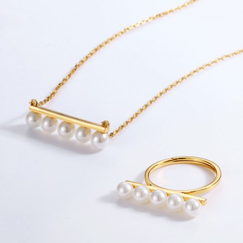 Long bar style sterling silver jewelry set