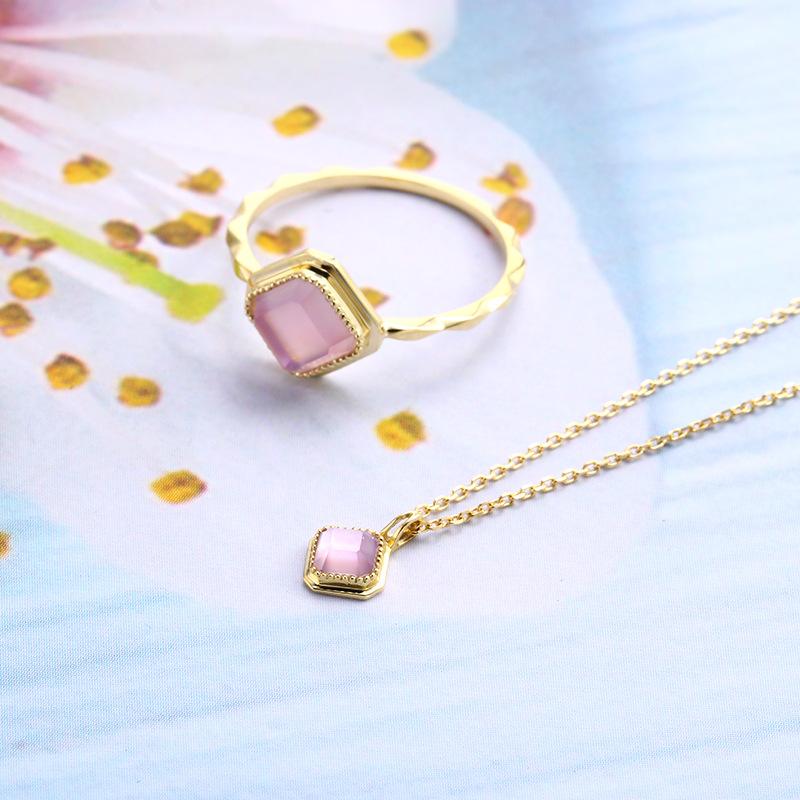 Elegant amethyst sterling silver jewelry set