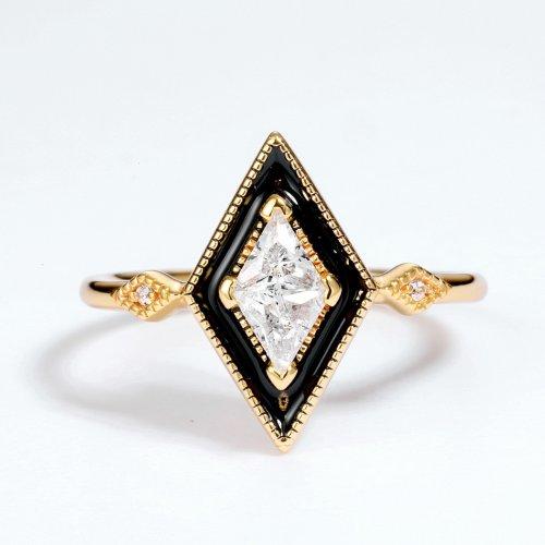 Vintage rhombic sterling silver ring