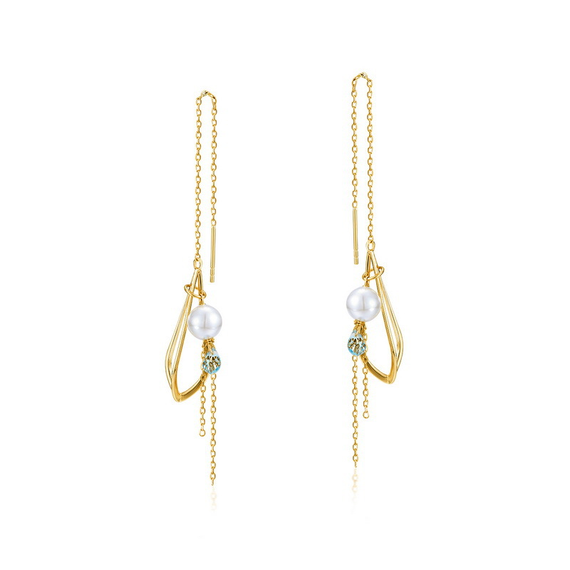Tassel sterling silver drop earrings