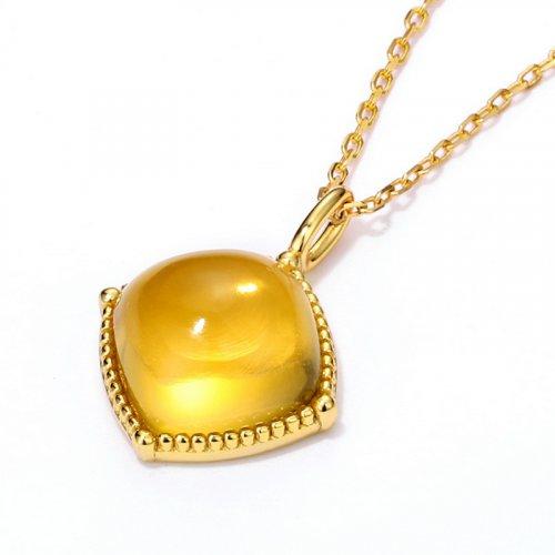 Citrine sterling silver pendant