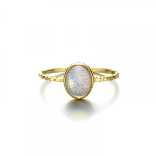 Oval labradorite sterling silver ring