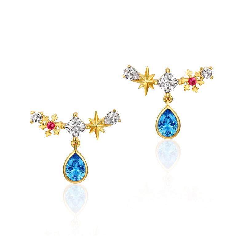 Snowy night sterling silver stud earrings