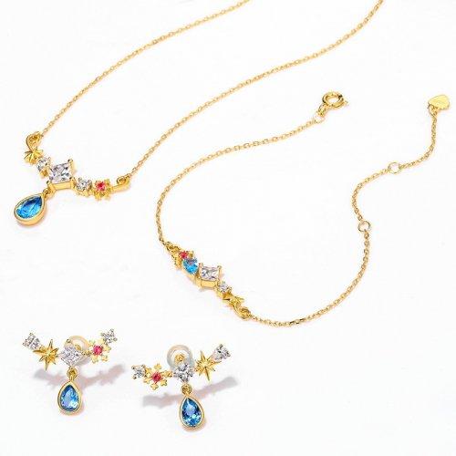 Snowy night sterling silver jewelry set