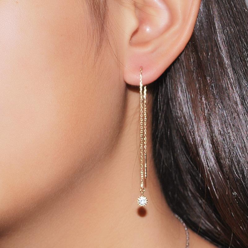 12 lucky colors silver drop earrings