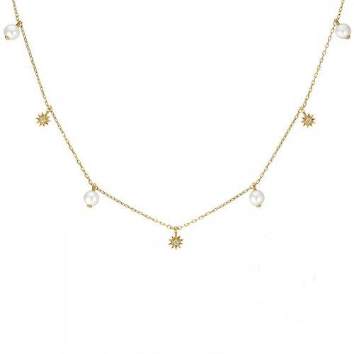 Twinkle star sterling silver necklace in 14K gold vermeil