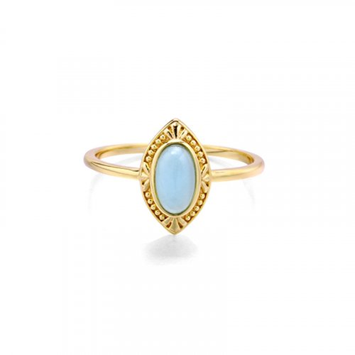 Marquise shape topaz sterling silver ring in 14K gold vermeil