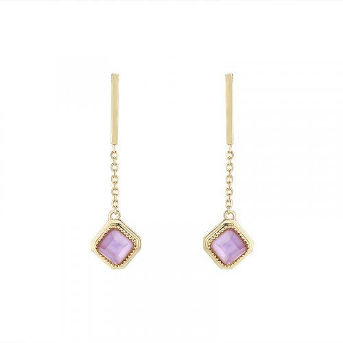 Elegant amethyst sterling silver earrings