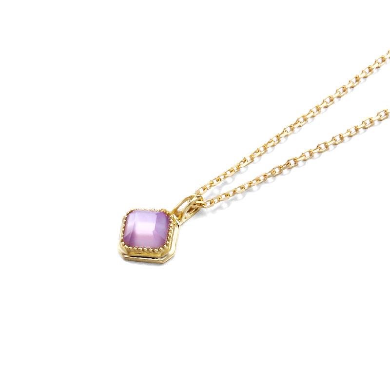 Elegant amethyst sterling silver necklace