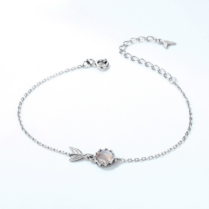 Sea-maid sterling silver chain bracelet