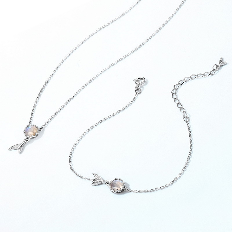 Sea-maid sterling silver jewelry set