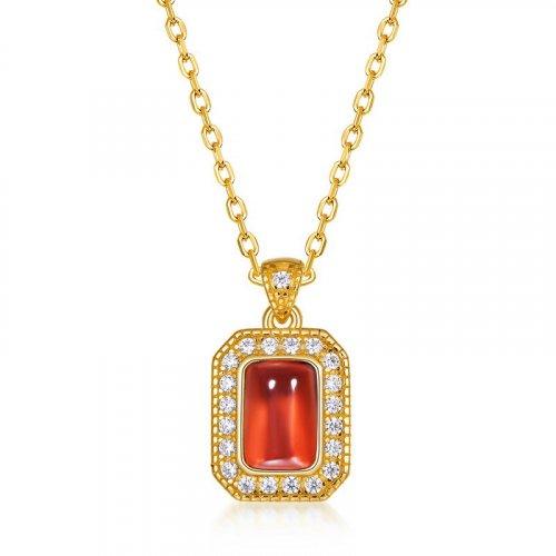 925 sterling silver garnet necklace