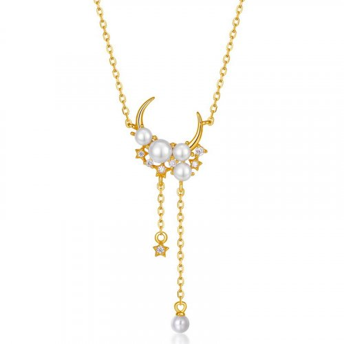 Cynthia sterling silver pearl necklace