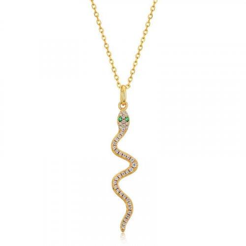 Glamor snake 925 sterling silver pendant