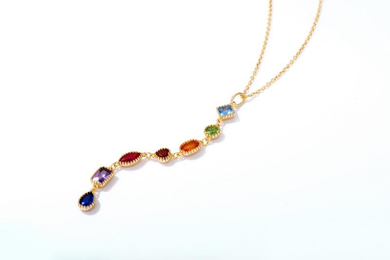 rainbow necklace pendant