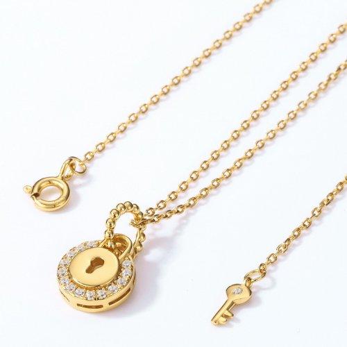 golden pendant necklace