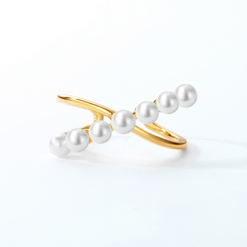 pearl double open ring