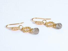 Labradorite sterling silver drop earrings